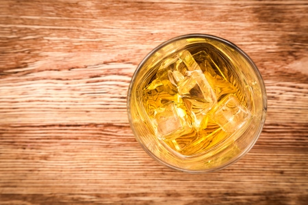 whisky glass: Whiskey.