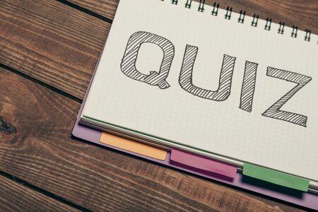 criticism: Quiz. Stock Photo