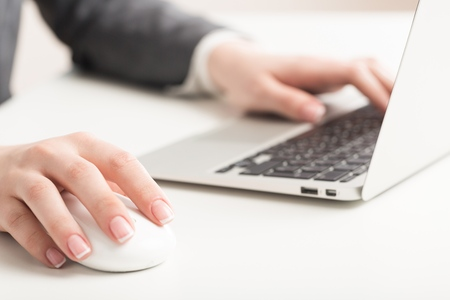 mouse pad: Computer Mouse. Stock Photo