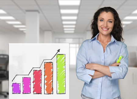 Office women: Businesswoman. Stock Photo