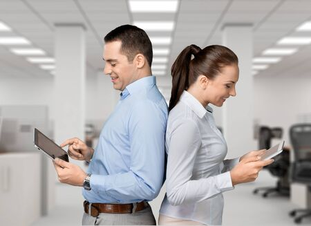file clerk: Tablet. Stock Photo