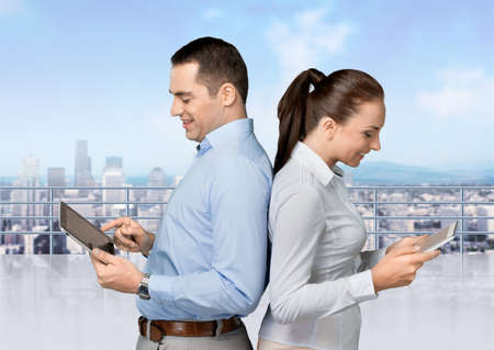 social grace: Tablet. Stock Photo