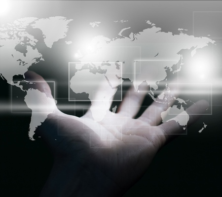 world at your fingertips: Earth.