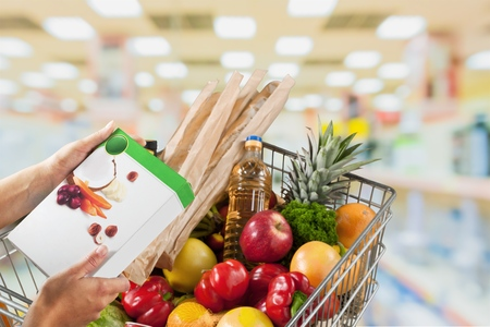 food products: Supermarket. Stock Photo