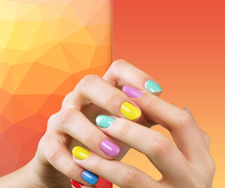 laque: colorful nail Stock Photo