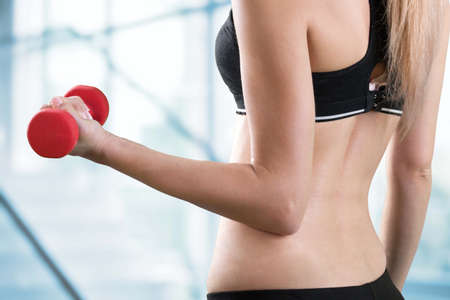 athleticism: Exercising woman of healthy concept
