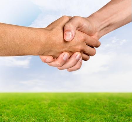 social grace: Handshake. Stock Photo