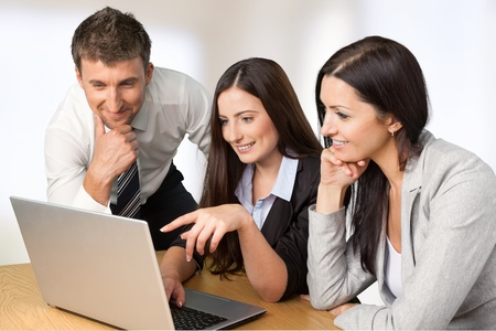 group business: Business partner discussing concept