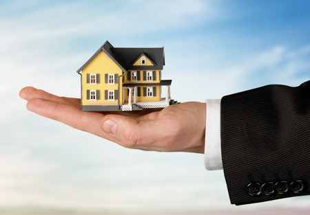 sold small: Buying House concept. Stock Photo