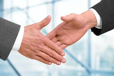 merging together: Handshake concept