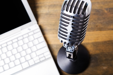 podcasting: Microphone.