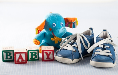 booties: Baby Shower. Stock Photo