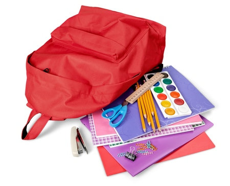 colored school: Back to School. Stock Photo