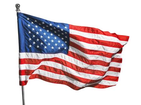 bandera blanca: Bandera estadounidense. Foto de archivo