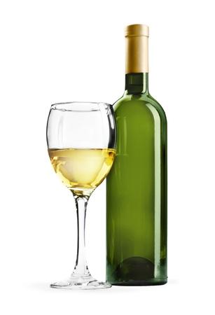 isolated on white: Wine. Stock Photo