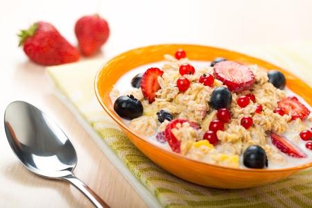 salubre: Desayuno. Foto de archivo