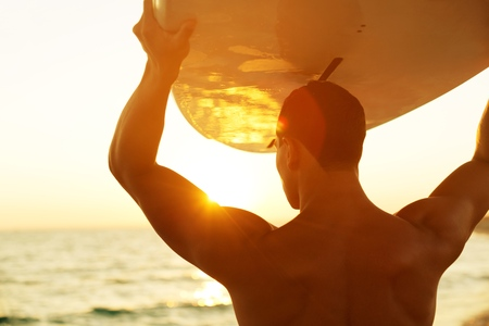big island: Surfing.