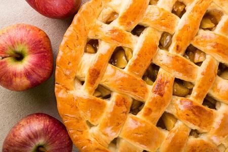 Apfelkuchen. Standard-Bild