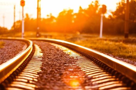 good night: Train. Stock Photo
