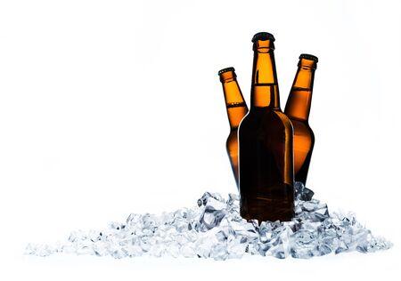 clear bottle: Beer.
