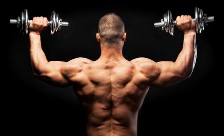 levantando pesas: Entrenamiento.