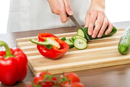 male hand: Cooking. Stock Photo