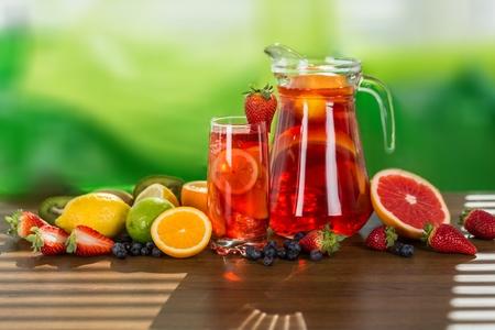 jugo de frutas: Sangría.