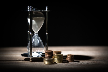 running out of time: Money. Stock Photo