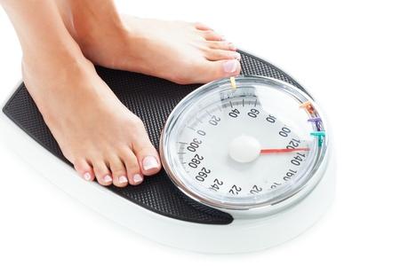 Échelle de poids. Banque d'images