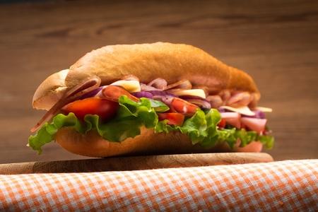 sandwiches: Sandwich. Stock Photo