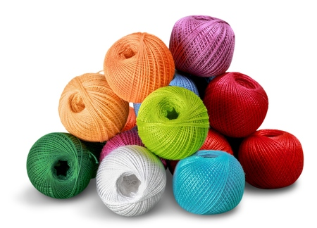 sewing cotton: Embroidery. Stock Photo