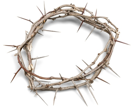 crown background: Thorn. Stock Photo