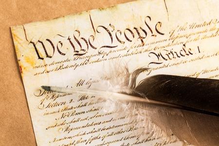 US-Verfassung. Standard-Bild
