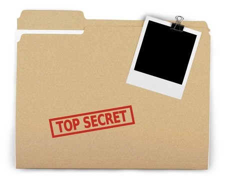 Top Secret. Stock Photo