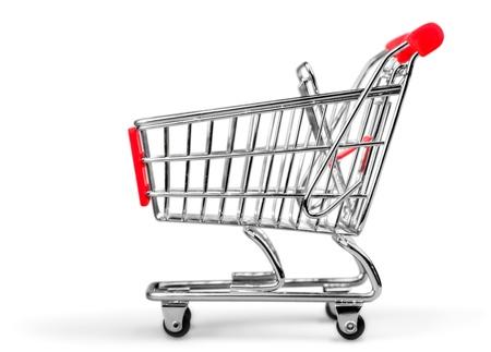 Einkaufswagen. Standard-Bild