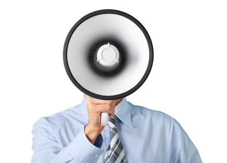 voice: Megaphone. Stock Photo