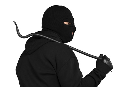 thievery: Burglar. Stock Photo