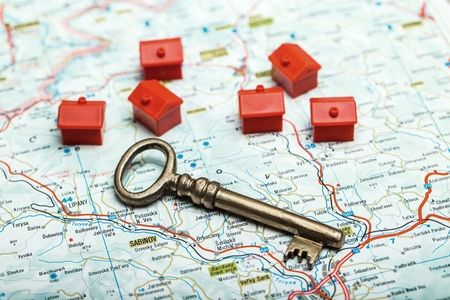 housing sales: Home. Stock Photo