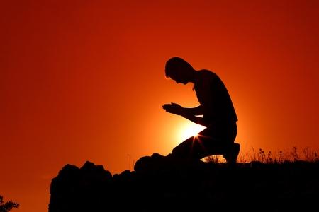 Praying. Archivio Fotografico