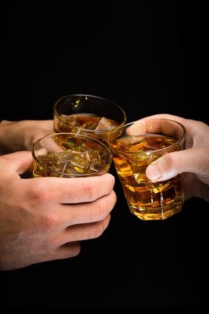 whisky glass: Whisky.