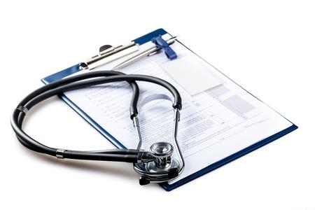 stethoscope: Stethoscope. Stock Photo