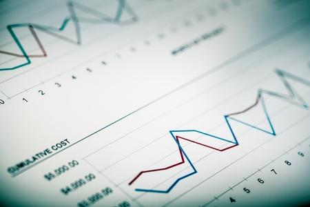 stock market data: Chart. Stock Photo