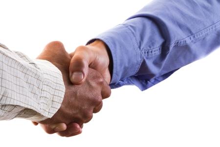 saludo de manos: Apret�n de manos.