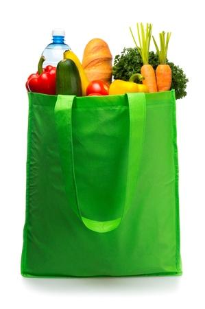 grocery bag: Bag. Stock Photo