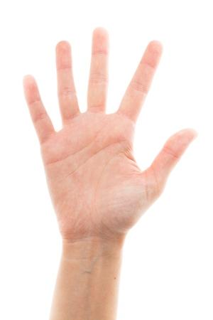 dedo �ndice: Mano humana. Foto de archivo