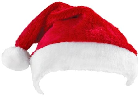 white  hat: Santa Hat.