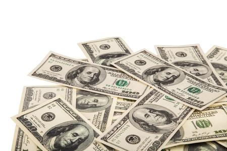 heap of dollar: Money. Stock Photo