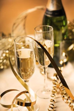 graduation party: Champagne.