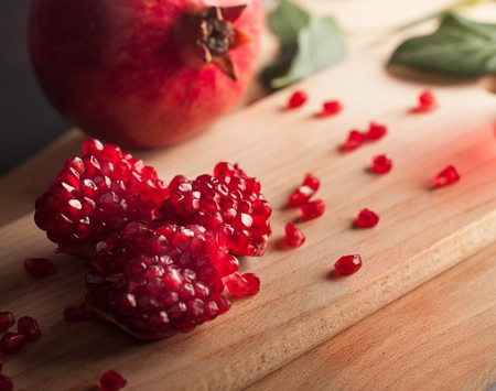 healthy lifestyle: Pomegranate. Stock Photo