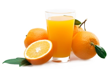 orange juice: Juice. Stock Photo